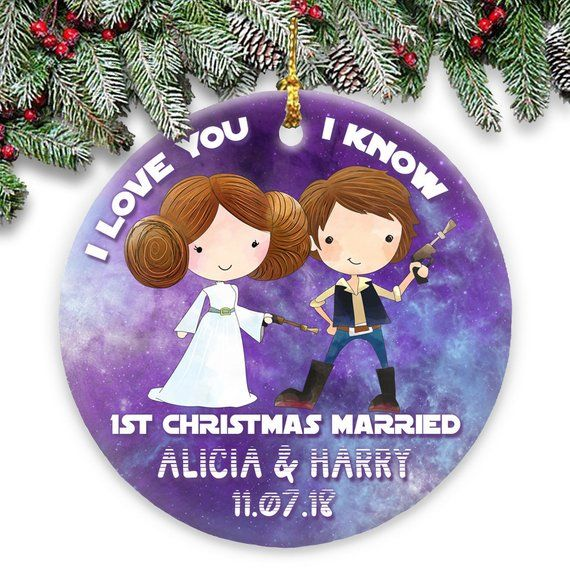 Star Wars First Christmas Personalized Married Ornament