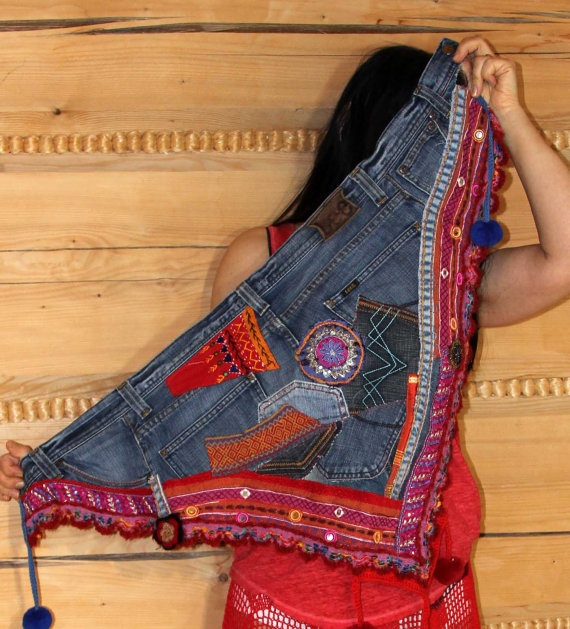 upcycled jeans, on Etsy