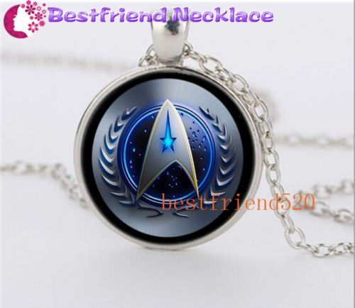 NEW Star Trek Movie Steampunk Glass Silver necklace for men woman Jewelry#YZ41 #Handmade #glass