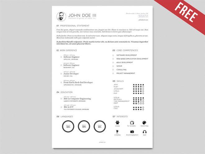 Free Vector Resume Template (Illustrator) | Freebiesjedi