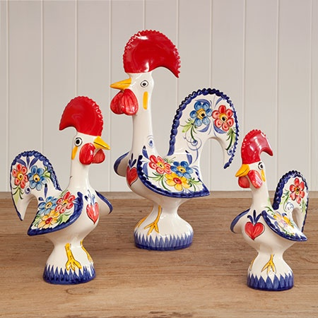 These roosters are from Portugal - so cute and they are considered good luck.