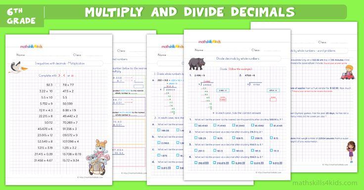 Enrich your kiddos multiplying and dividing decimal skills