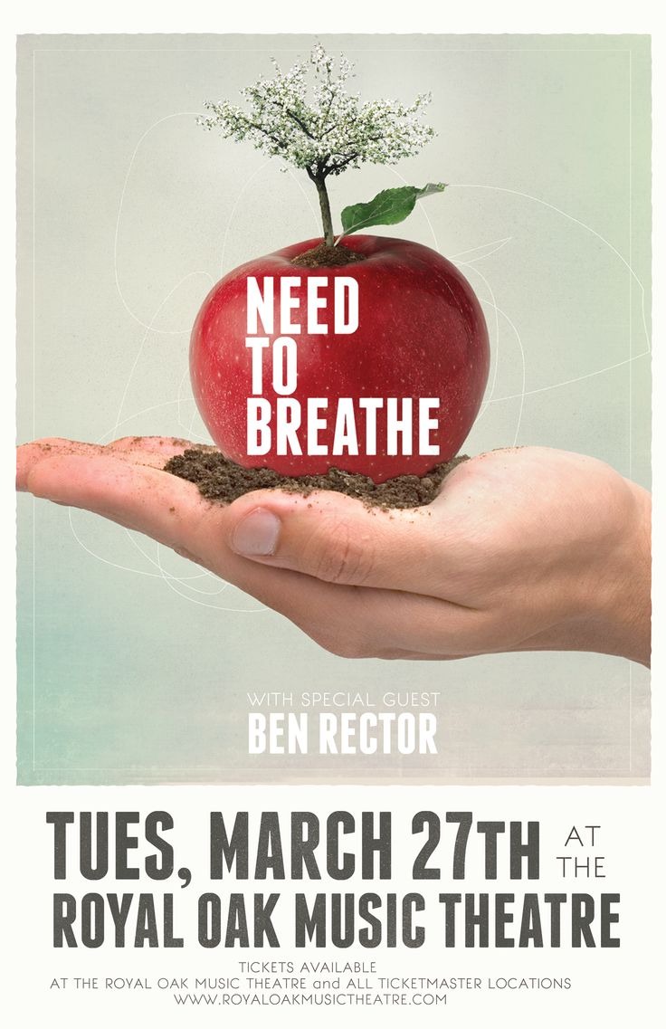 Needtobreathe poster I created for a class project. The date/venue is the real deal though! :D