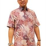 4-1 Gallery Batik Tissa-Kemeja Katun Tulis-Cokelat