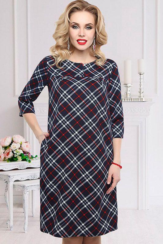 Платье с принтом в клетку Чарутти-Милора - интернет-магазин Moda-nsk