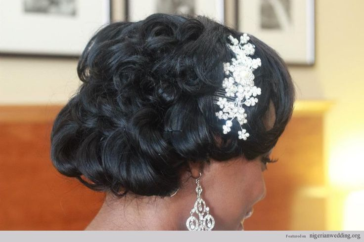 50 Wedding Hairstyles For Nigerian Brides And Black: 17 Best Images About Bridal Hair On Pinterest