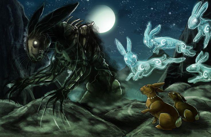 El-ahrairah and the Black Rabbit of Inle by fiszike.deviantart.com on @DeviantArt