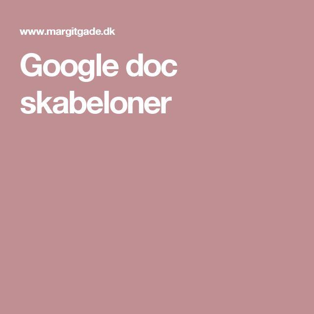 Google doc skabeloner