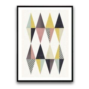 Plakát v dřevěném rámu Thymus, 38x28 cm