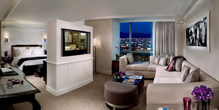 Our hotel room at the Hard Rock Hotel in Las Vegas.