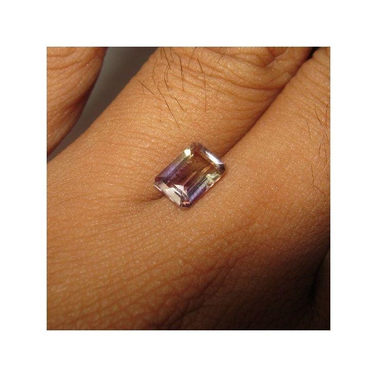 Batu Permata Natural Ametrine Rectangular 1.40 carat