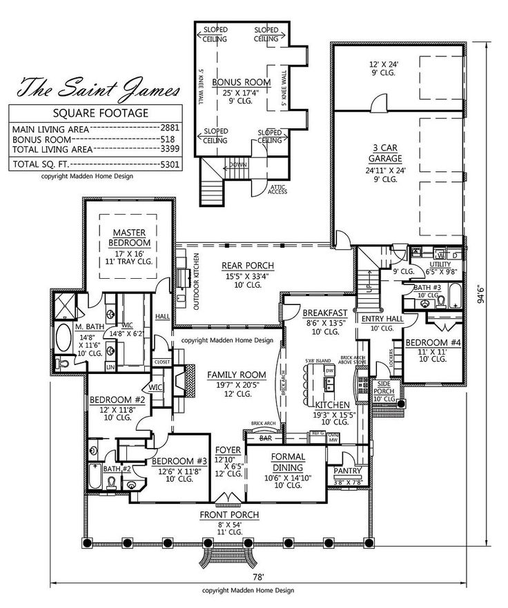 250 best house plans images on pinterest brick paint for Madden house plans