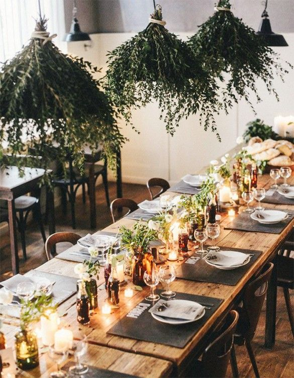 Beautiful country elegant wedding table set up