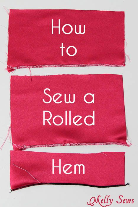 How to Sew a Rolled Hem - Melly Sews