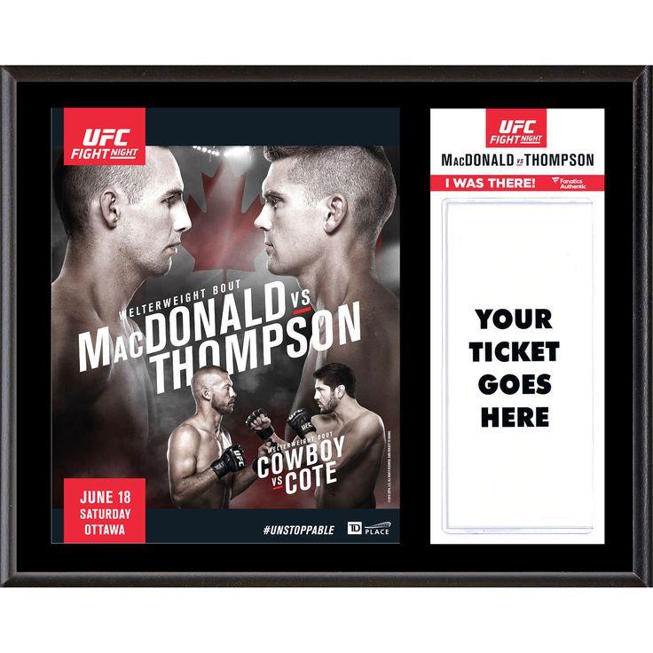 "Fanatics Authentic UFC Fight Night Rory MacDonald vs. Stephen Thompson 12"" x 15"" Sublimated Plaque - $31.99"