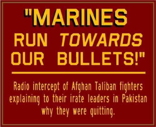 Marines run towards our bullets #usmc