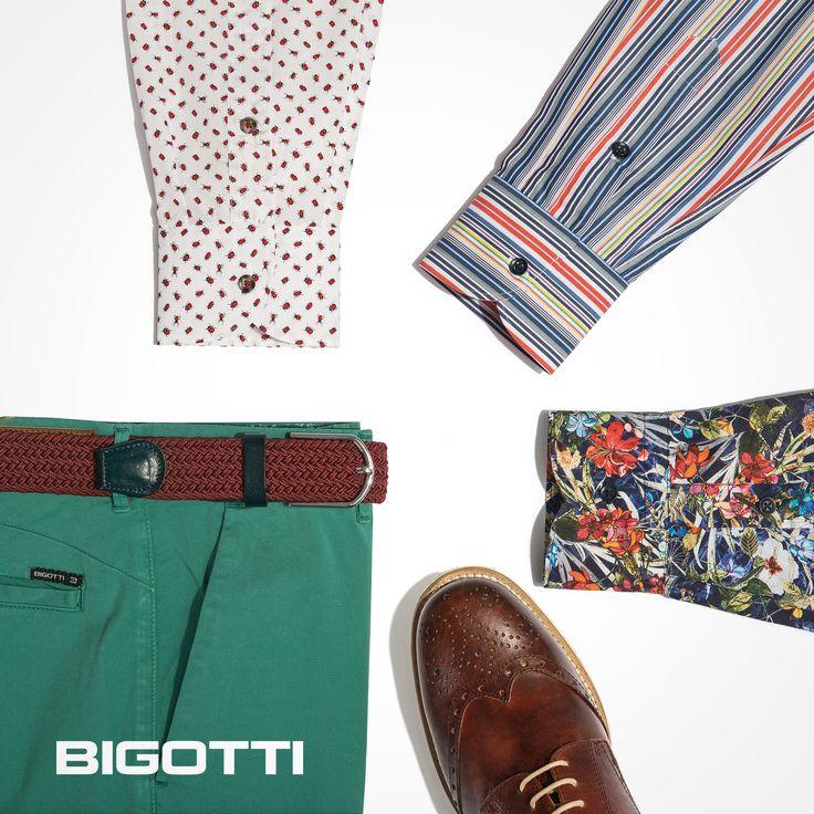 #Brighten up your #seasonal #look wit #coloured #chinos and #printed #shirts ! www.bigotti.ro #Bigottiromania #moda #barbati #primavaravara #springsummer #inspiration #nouacolectie #newcollection #stylingtips
