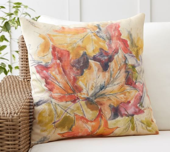 Foliage Print Indoor/Outdoor Pillow #potterybarn