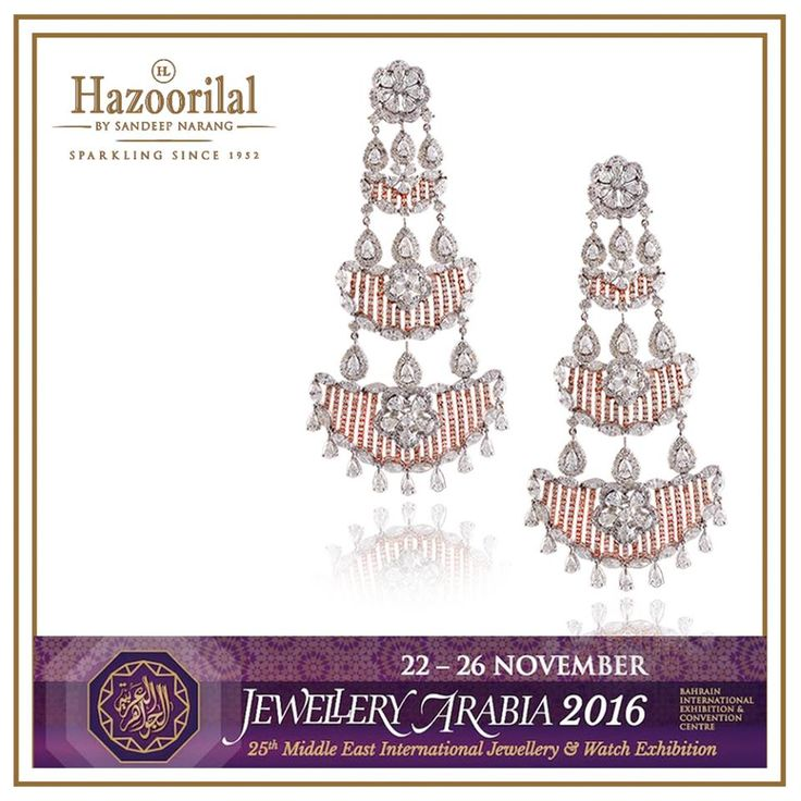 #HazoorilalBySandeepNarang exhibits at the 25th Middle East Jewellery &Watch show at #Bahrain #SaveTheDate #JewelleryArabia2016 #HazoorilalEvents #Manama #Diamonds #UncutDiamonds #RoseCuts #FancyCuts #Gold #BridalJewellery #ItcMaurya #DlfEmporio #HazoorilalJewellersGK #Hazoorilal