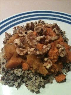 quinoa, sweet potatoes and/or butternut squash baked in the oven with ...