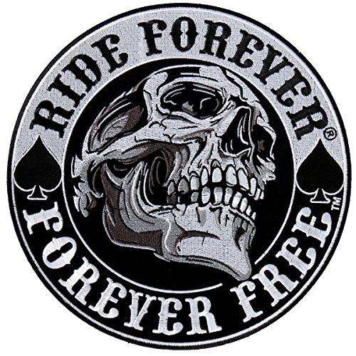 Hot Leathers Spade Skull Ride Forever Forever Free Patch 3.5 inch http://bikeraa.com/hot-leathers-spade-skull-ride-forever-forever-free-patch-3-5-inch/
