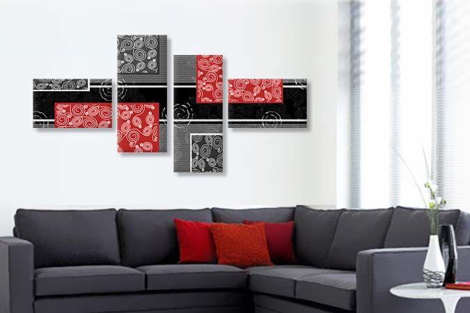Abstract Rosu si Negru 3285