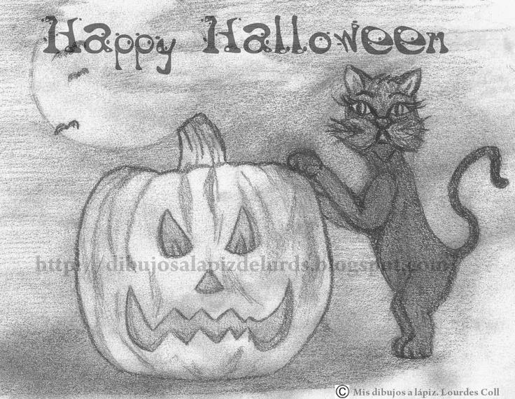 Mis dibujos a lápiz: Feliz Halloween