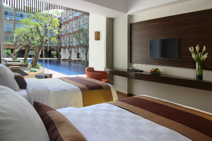 Twin Bedroom of Pool Access Room at The Bene. #balihotels #bali #kuta http://www.thebenehotel.com/