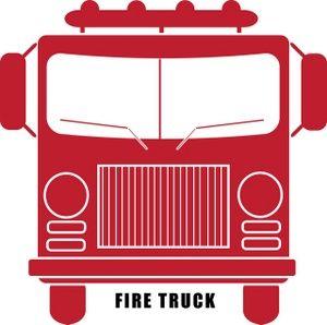 Firetruck Clipart Image: clip art illustration of a red fire truck