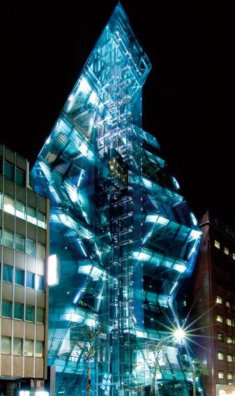 Modern architecture and great lighting design. Audi Forum in Tokyo, Japan  -  #architecture #lights #design