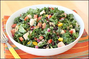 Keep your #summer menu fresh & colorful with these two refreshing new HG #salads: Southwest Chicken Kale & Happy Jicama Watermelon!