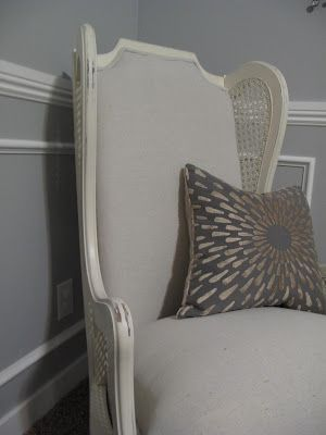 Little Miss Penny Wenny: Re-upholstery With Drop Cloth- Part 2