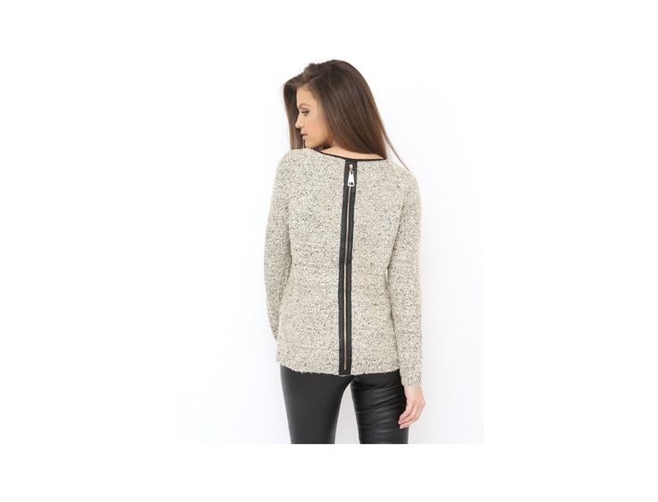 Zip Back Knitted Sweater for the cold winter days...available at www.famevogue.ro...:)  #sweater #style #fashion #winter #knit
