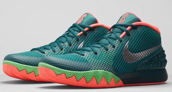 Inspired by the flower of the same name. The Nike Kyrie 1 'Flytrap' is the latest Kyrie Irving signature colorway to hit the scene.