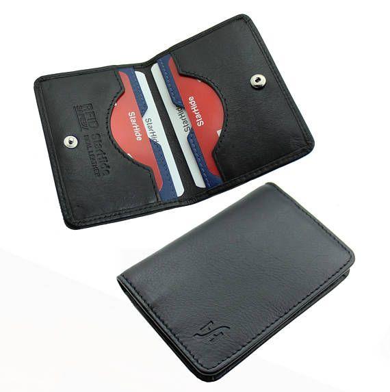Mens Gents Genuine Leather Ultra Slim RFID Blocking Safe Two Tone Wallet Purse
