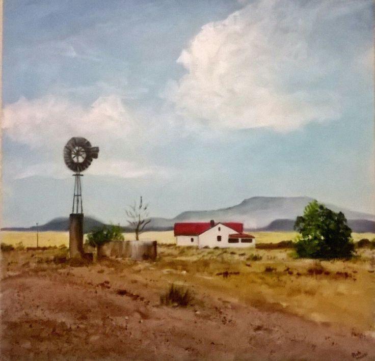 Landscape on a canvas