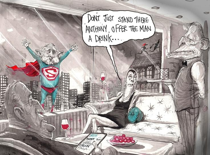 Super Crean flies again from Cartoon gallery   David Rowe