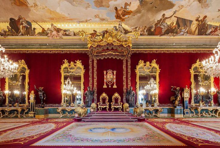 Salón del Trono del palacio Real de Oriente, Madrid capital del reino de España