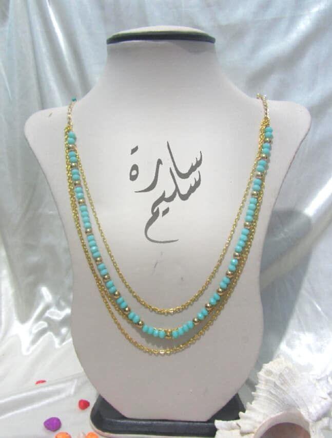 عقد من الكريستال مع سلاسل معدنية هاند ميد Girls Accessories Statement Necklace Necklace
