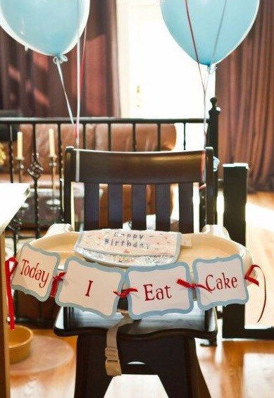 First Birthday Highchair Banner, Today I Eat Cake Banner, smash cake photo prop, 1st Birthday Party Decor by MaxandEmsPartyShoppe on Etsy https://www.etsy.com/listing/266512758/first-birthday-highchair-banner-today-i