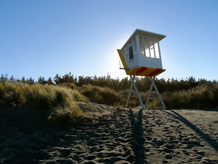 Woodend Beach Holiday Park. Lifeguard Hut, Wilson & Hill Architects NZ, Winner of 2011 Canterbury Architects Award!