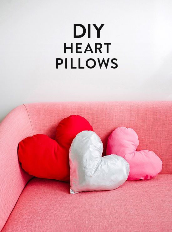 diy heart pillows - cute little valentine's say idea...