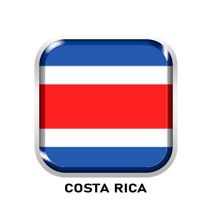 Costa Rica Flag Classic Round Sticker Zazzle Com Costa Rica Flag Round Stickers Stickers Custom