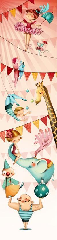 papel de parede infantil o Circo