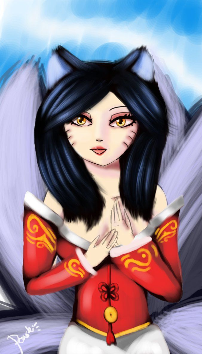 Ahri digital art by Ponoki-Chan on DeviantArt