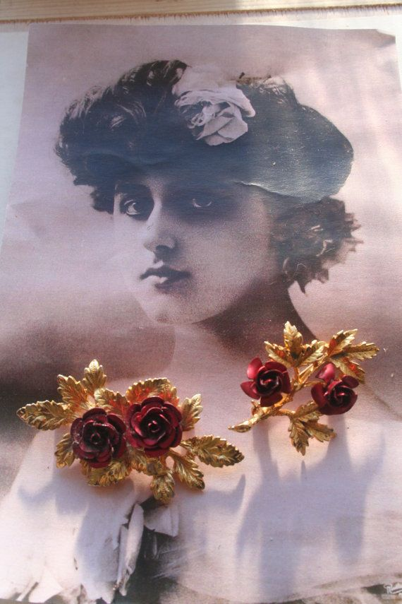 Flower brooch Vintage brooch lot Lot vintage by IRISHTREASURE
