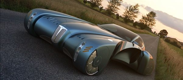 Bugatti Type 57 Atlantic Concept: A Car For French Space Aliens
