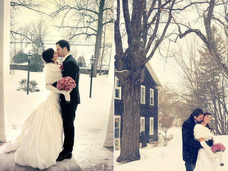 Photographier un mariage sous la neige