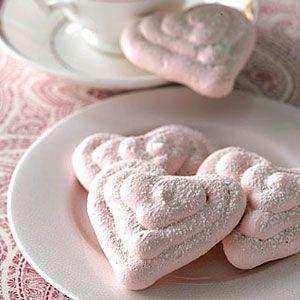 Raspberry Meringue Hearts
