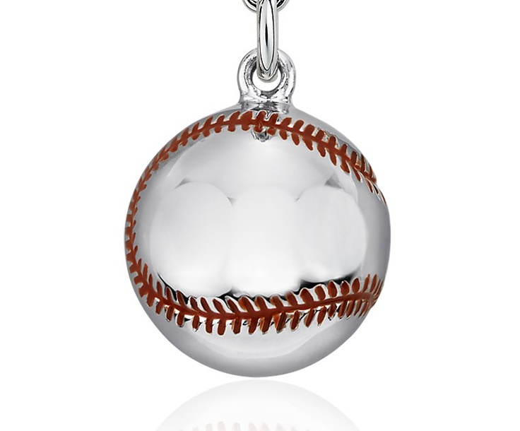 178 best baseball jewelry images on pinterest baseball jewelry baseball charm in sterling silver blue nile aloadofball Gallery